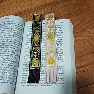 2 leather bookmarks